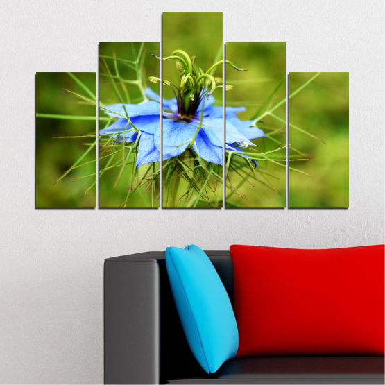 Canvas prints & wall decorative panels - 5 pieces №0498 » Green » Nature, Flowers, Garden Form #5