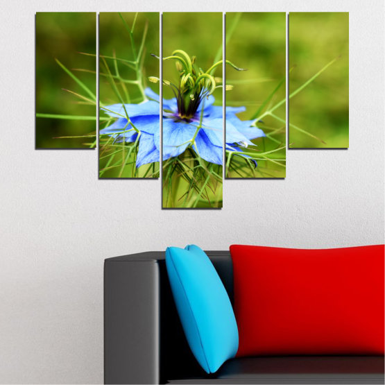 Canvas prints & wall decorative panels - 5 pieces №0498 » Green » Nature, Flowers, Garden Form #6