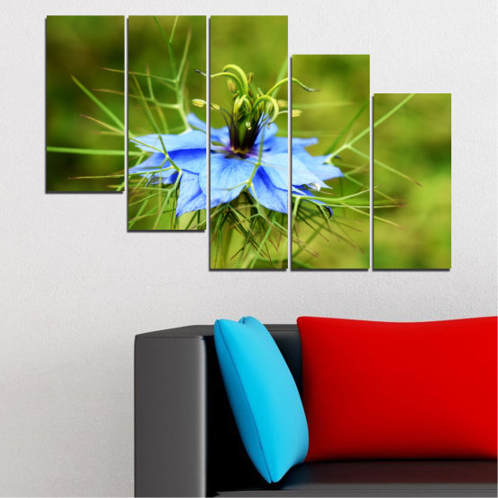 Canvas prints & wall decorative panels - 5 pieces №0498 » Green » Nature, Flowers, Garden Form #7