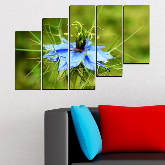 Canvas prints & wall decorative panels - 5 pieces №0498 » Green » Nature, Flowers, Garden Form #8