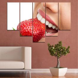 Декоративни панели и картини от канава - от 5 части №0501 Усмивка 6-та Форма