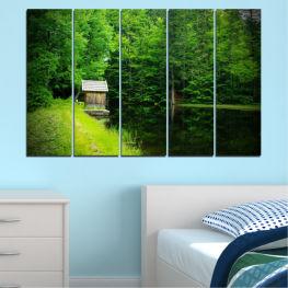 Декоративни панели и картини от канава - от 5 части №0507 Природа 2-ра Форма