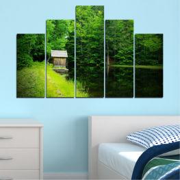 Декоративни панели и картини от канава - от 5 части №0507 Природа 5-та Форма