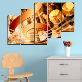 Декоративни панели и картини от канава - от 5 части №0524 Абстракция 8-ма Форма