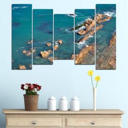 Декоративни панели и картини от канава - от 5 части №0533 Вода 4-та Форма