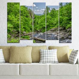 Декоративни панели и картини от канава - от 5 части №0552 Природа 3-та Форма