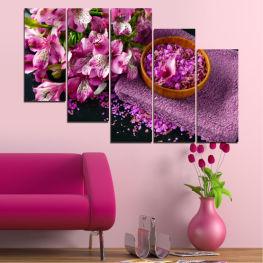 Декоративни панели и картини от канава - от 5 части №0565 Цветя 7-ма Форма