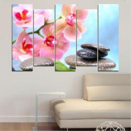 Декоративни панели и картини от канава - от 5 части №0569 Цветя 3-та Форма