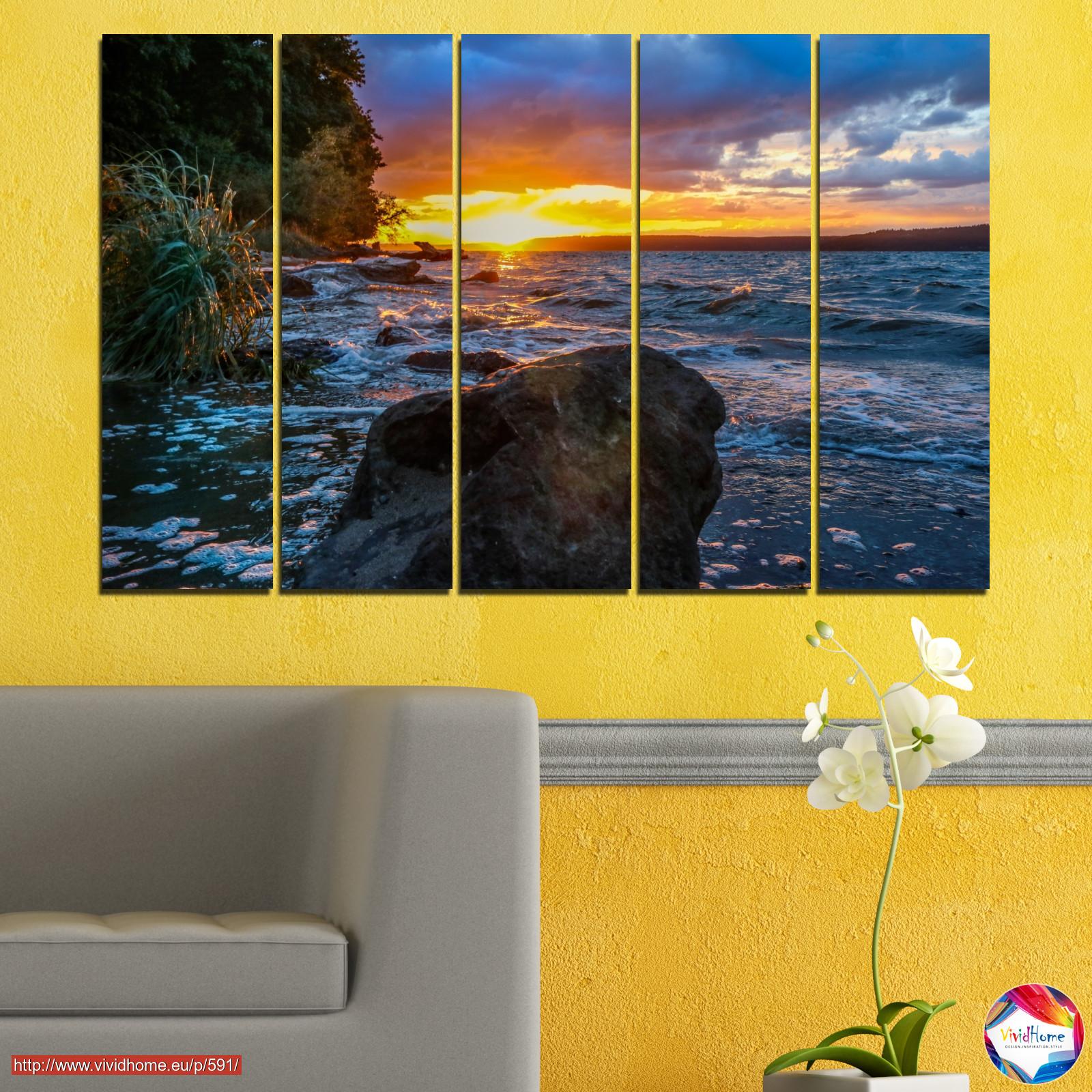 Landscape, Nature, Sea, Sunset, Bay, Rocks №0591