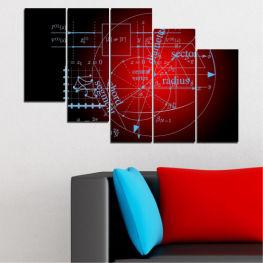 Декоративни панели и картини от канава - от 5 части №0594 Абстракция 7-ма Форма