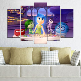 Children, Animated, Inside-out, Disney » Purple, Blue, Gray, Beige, Dark grey