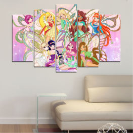 Children, Animated, Winx » Gray, White, Beige, Milky pink