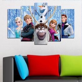 Children, Animated, Frozen kingdom, Disney » Turquoise, Black, Gray, Dark grey