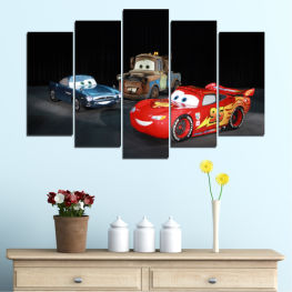 Children, Animated, Car, Mcqueen » Red, Black, White, Dark grey
