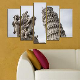 Забележителност, Италия, Статуя, Кула » Кафяв, Черен, Сив, Тъмно сив