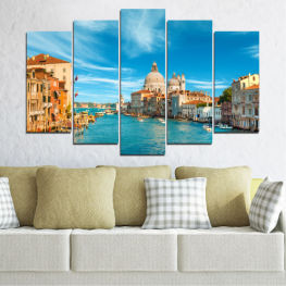 City, Water, Italy, Venice, Canal » Blue, Turquoise, Gray, Beige