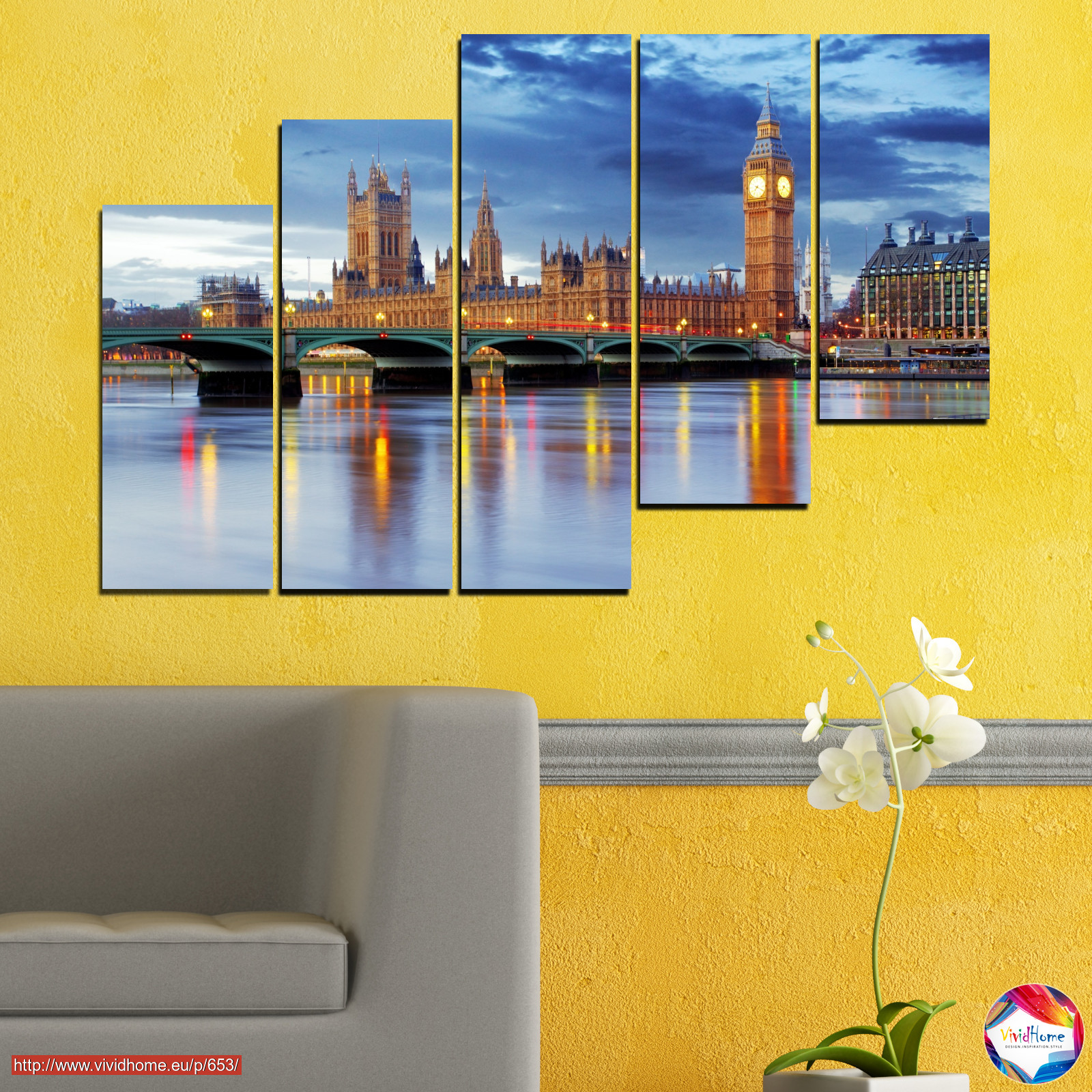 Water, City, London, Bridge, Great britain, Big ben №0653