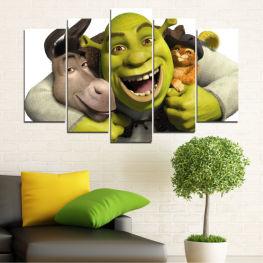 Παιδιά, Κινουμένων σχεδίων, Shrek » Πράσινος, Μαύρος, Γκρί, Άσπρο, Σκούρο γκρι