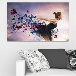 Woman, Collage, Art, Butterfly » Purple, Gray, White, Dark grey