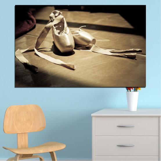 Декоративни панели и картини от канава - от 1 част №0054 » Кафяв, Черен, Сив, Бежов, Тъмно сив » Изкуство, Танц, Музика, Балет Form #1