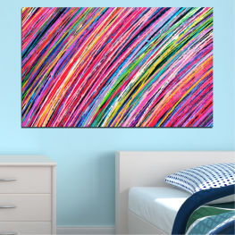 Abstraction, Colorful, Lines » Red, Pink, Blue, Black, Milky pink