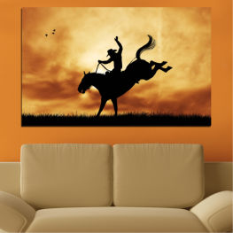 Animal, Horse, Shadow, Rodeo » Orange, Brown, Black, Beige