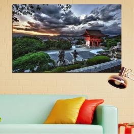 Природа, Къща, Азия, Китай » Зелен, Черен, Сив, Тъмно сив
