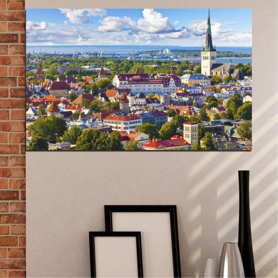 Декоративни панели и картини от канава - от 1 част №0128 » Кафяв, Сив, Тъмно сив » Град, Столица, Естония Form #1