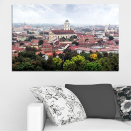 City, Europe, Vilnius » Black, Gray, White, Dark grey