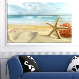 Sea, Sky, Summer, Island, Star, Coral, Sand » Gray, White, Beige