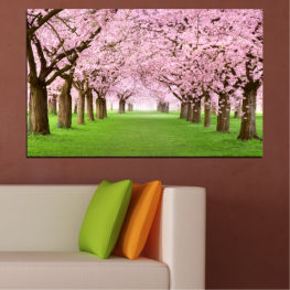 Flowers, Forest, Freshness, Spring » Green, Brown, Gray, Milky pink