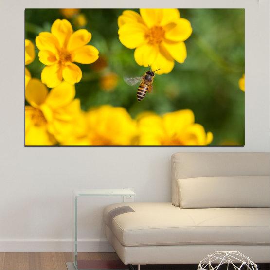 Декоративни панели и картини от канава - от 1 част №0188 » Зелен, Жълт, Оранжев, Кафяв » Цветя, Природа, Градина Form #1