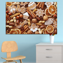 Culinary, Christmas, Pastry » Orange, Brown, Gray, Beige