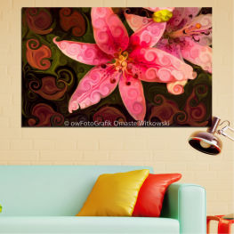 Flowers, Nature, Collage » Red, Pink, Brown, Black